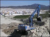 Murcia, España. Construcción de casas