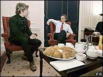 Jamie Oliver and Tony Blair