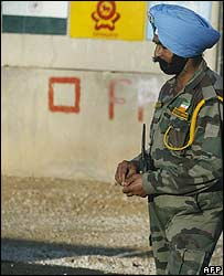 Indian Unifil soldier in Lebanon 16 August 2006