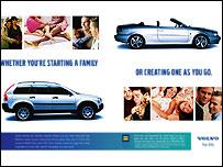 Anuncio de Volvo, filial de Ford.