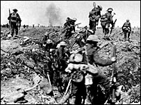 British troops at the Battle of the Somme in 1916