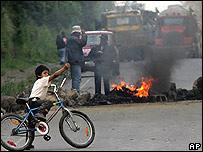 Bloqueos de carreteras en Ecuador