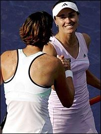 Lindsay Davenport and Martina Hingis