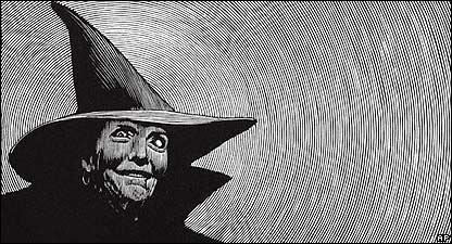 Dibujo de una bruja