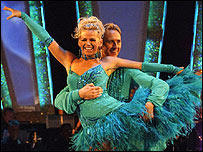 Zoe Ball and dance partner Ian Waite in Strictly Come Dancing