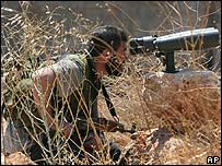 Hezbollah fighter near Bint Jbeil 16 August 2006