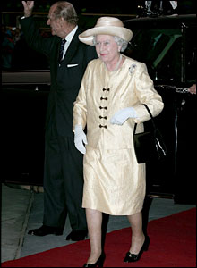 Her majesty Queen Elizabeth II and Prince Phillip
