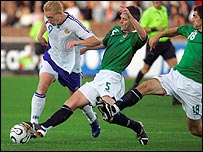 Action from Finland v Northern Ireland