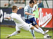 Scotland Ross Wallace in action against Slovenia