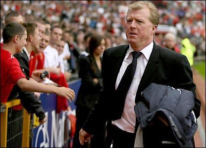 England boss Steve McClaren at Old Trafford