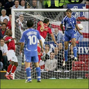 John Terry rises the highest to score in the 13th minute