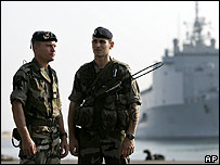 French troops in Beirut to escort evacuees this month