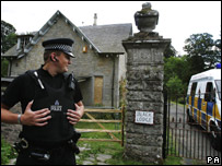 Police at Mr Norris' house