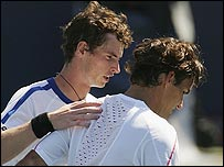 Andy Murray (left) and Roger Federer