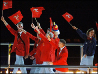 Isle of Man team at the Commonwealth Games opening ceremony
