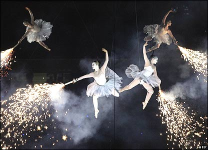 Performers at the Commonwealth Games opening ceremony