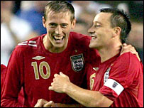 Peter Crouch and John Terry