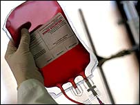 Image of blood for transfusion