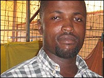Aristides at the company where he works in Luanda