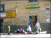 La Paz street sellers