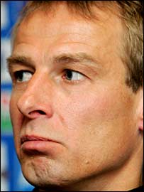 Germany coach Jurgen Klinsmann