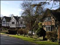 Large detached houses in Surrey