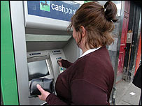 Lloyds TSB cash machine