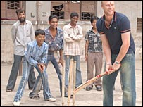 Andrew Flintoff in Mumbai