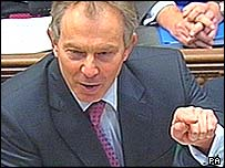 Tony Blair at prime minister's question time
