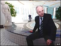 Sven-Goran Eriksson sits poolside at England's World Cup hotel
