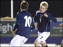 Kilmarnock's Steven Naismith was on target for Scotland