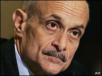 Homeland Security head Michael Chertoff
