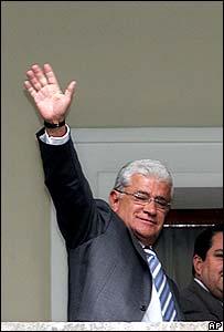 Ecuadorean president Alfredo Palacio