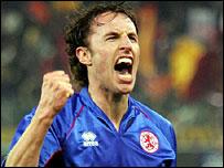 Gareth Southgate celebrates Boro's win
