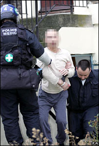 A man arrested in the raid