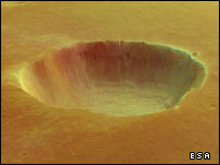 Mars Express views the caldera of the volcano Albor Tholus (Esa)