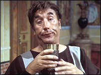 Frankie Howerd as Lurcio in Up Pompeii!