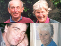 From left to right clockwise: Derek and Jean Robinson, Marie Harding and Kevin Molloy