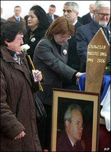 Прощание с Милошевичем в Белграде