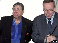 Actor and comedian Jerry Lewis, left, and French Culture Minister Renaud Donnedieu de Vabres