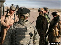 US and Iraqi forces are briefed ahead of an offensive near Samarra