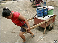 Traslado de agua en Nicaragua.