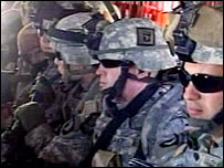 Troops in a helicopter as part of Operation Swarmer (Pentagon picture)
