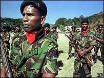 East Timorese soldiers