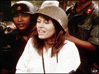 Actress Jane Fonda in Hanoi in 1972