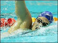 South African swimmer Natalie du Toit