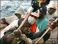 African immigrants detained off the coast of Tenerife