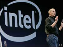 Steve Jobs unveils Macs using Intel chips, AP