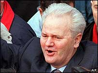 Former Yugoslav President Slobodan Milosevic