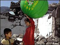 Children in quake zone